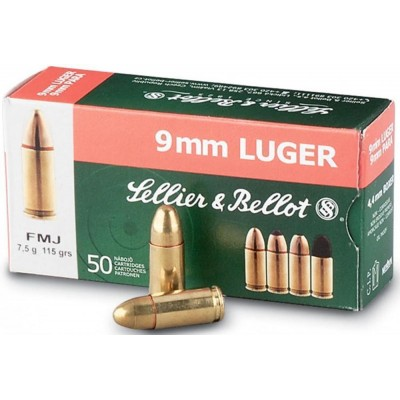 Sellier and Bellot 9mmP 115gr FMJ