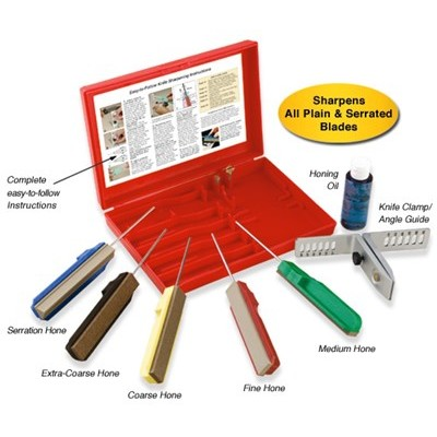 Gatco 3 Stone Knife Sharpener Kit